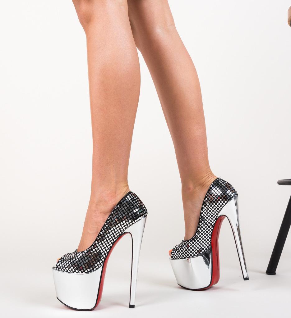 Pantofi Informatio Argintii