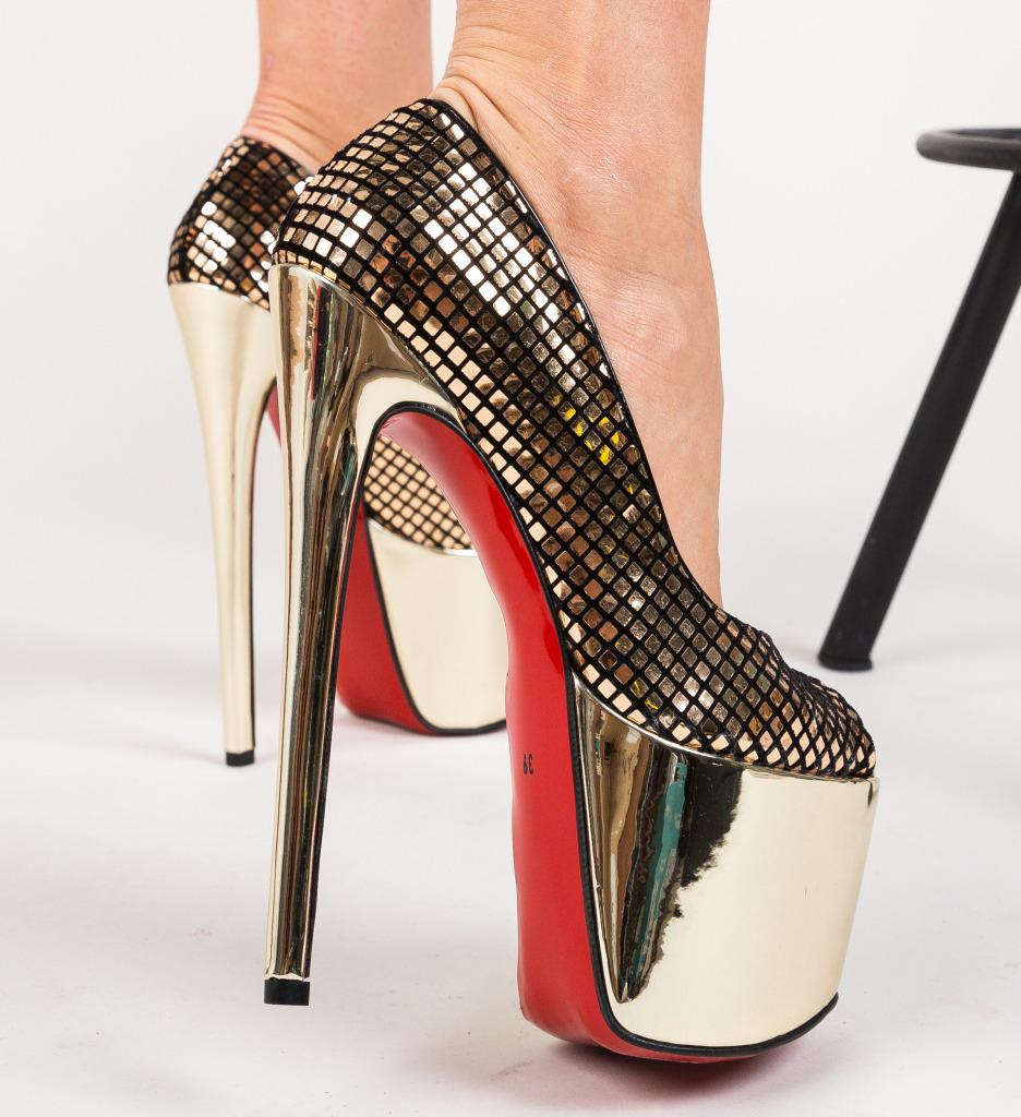 Pantofi Informatio Aurii imagine