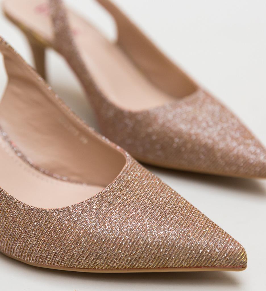 Pantofi Jax Aurii