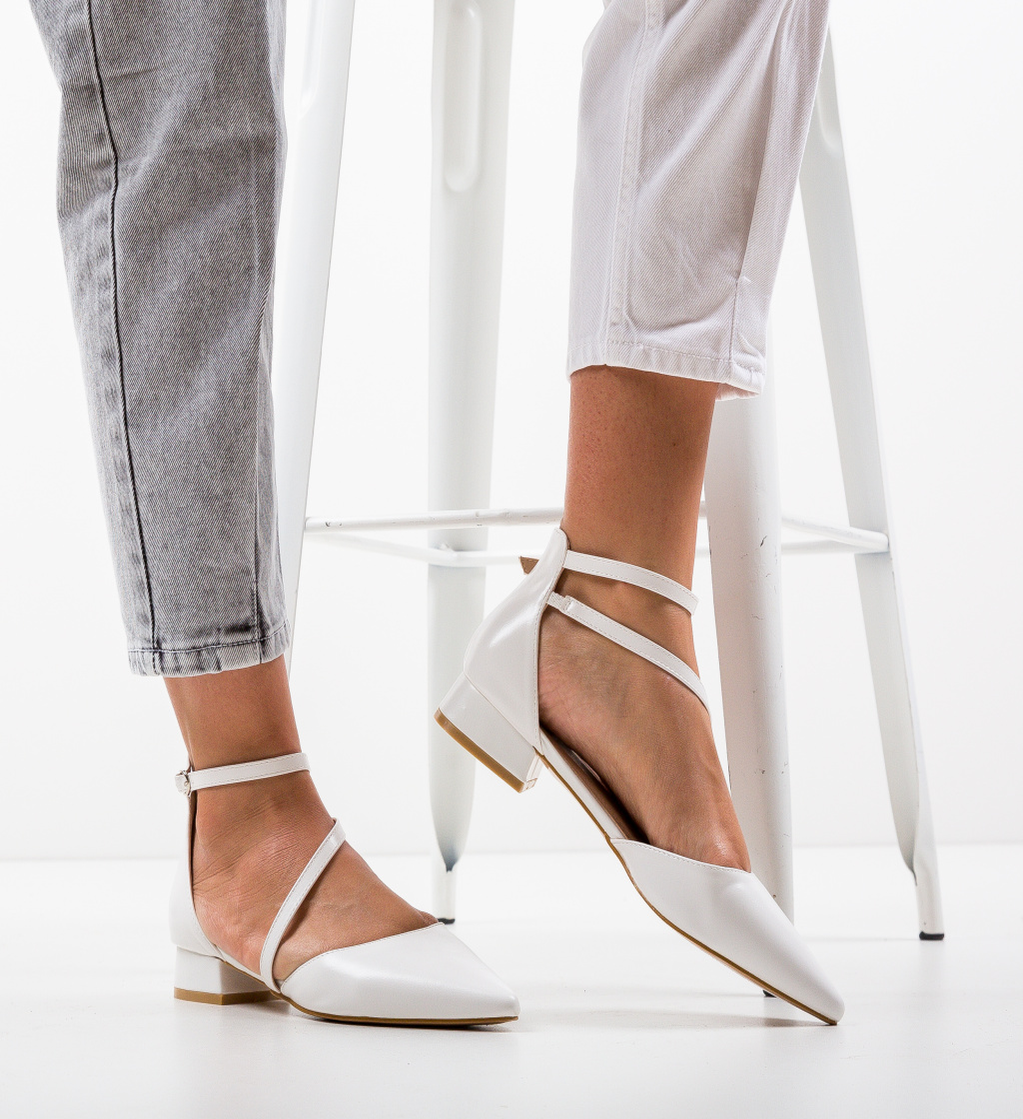 Pantofi Jem Albi