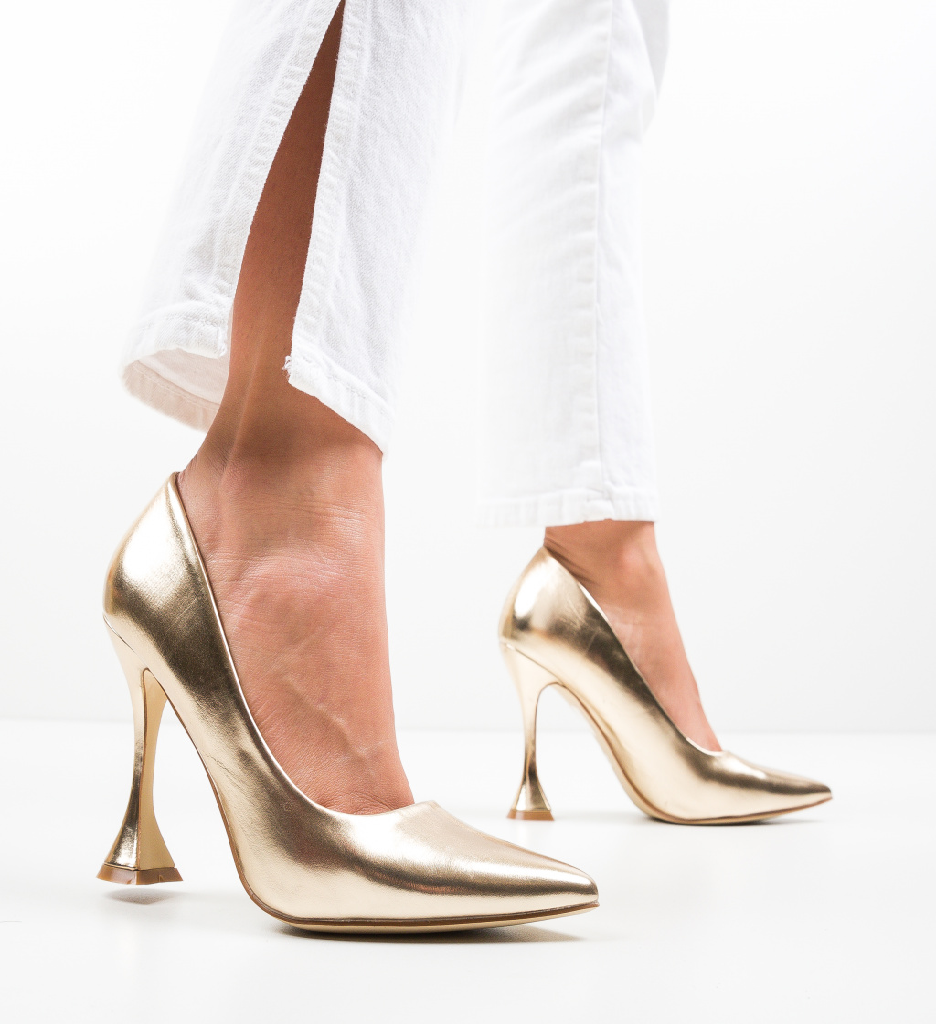 Pantofi Lena Aurii