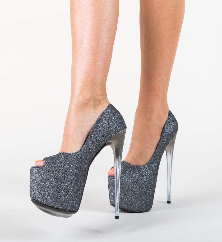 Pantofi Munteania Gri