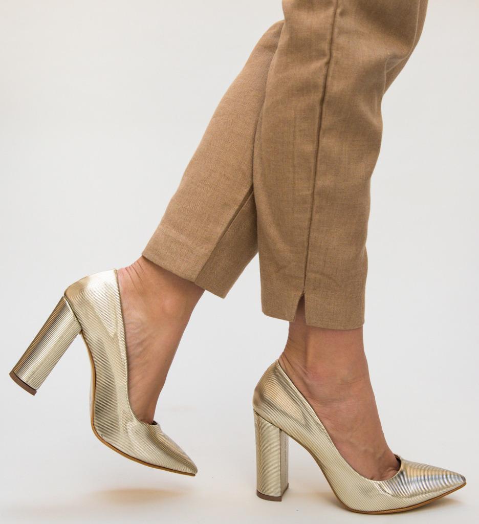 Pantofi Nixon Aurii