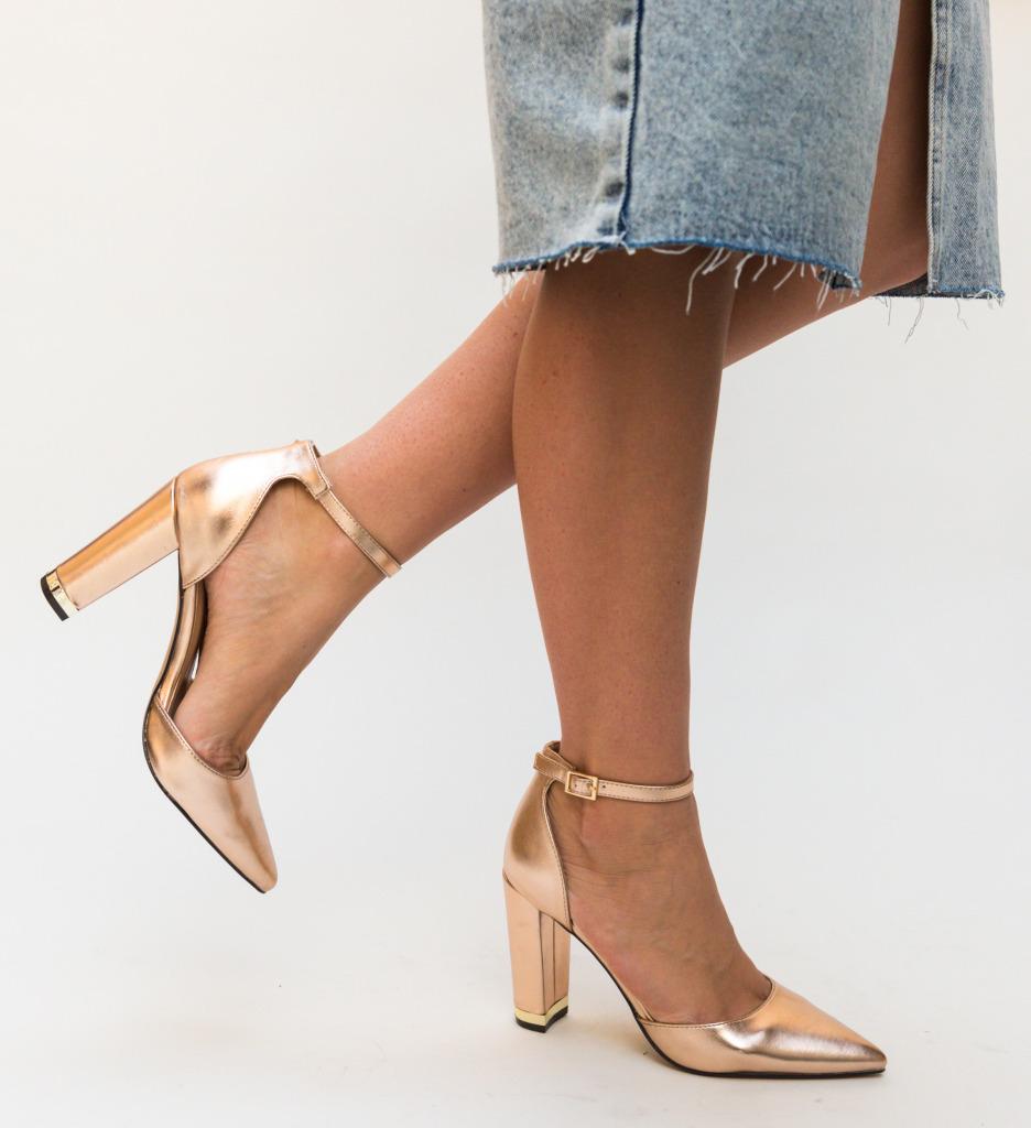 Pantofi Owain Aurii