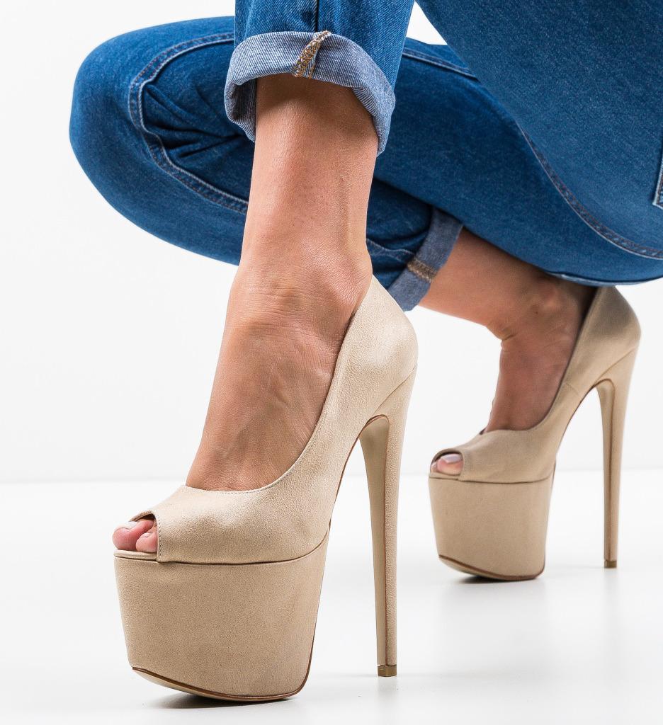 Pantofi Quker Bej 2