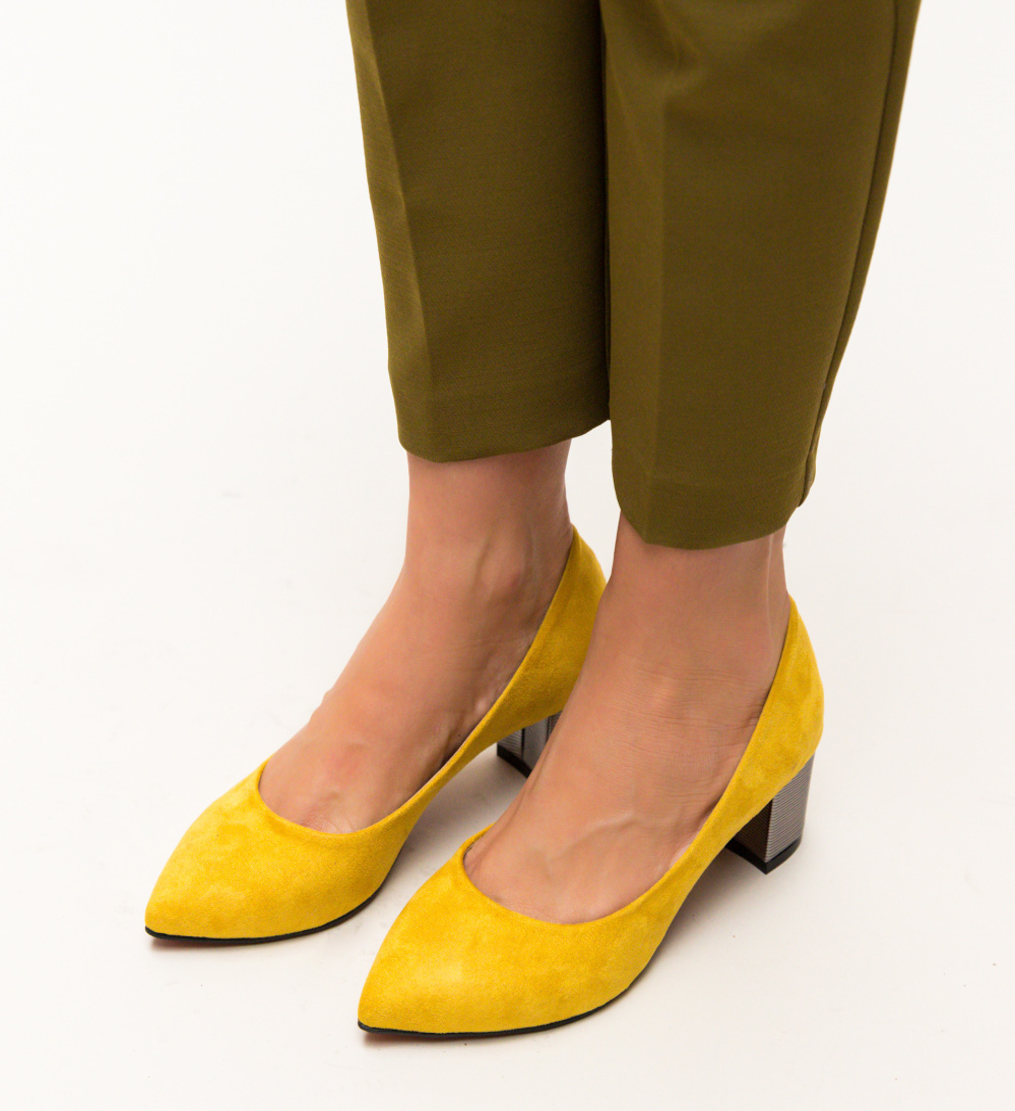Pantofi Richie Galbeni imagine