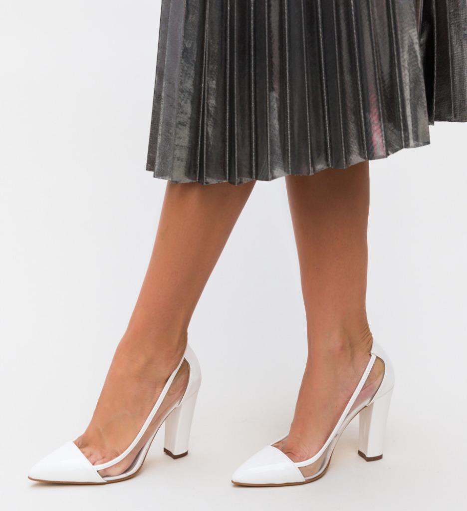 Pantofi Seneha Albi imagine 2021