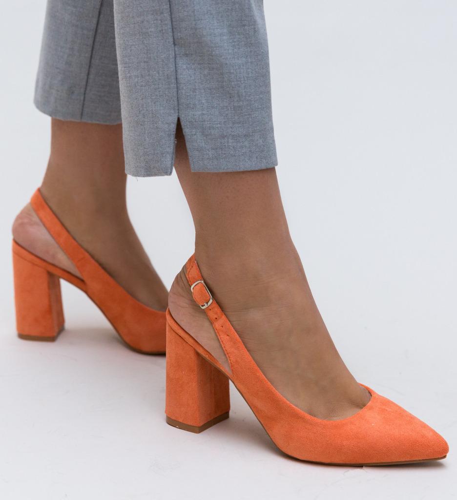 Pantofi Snider Portocalii