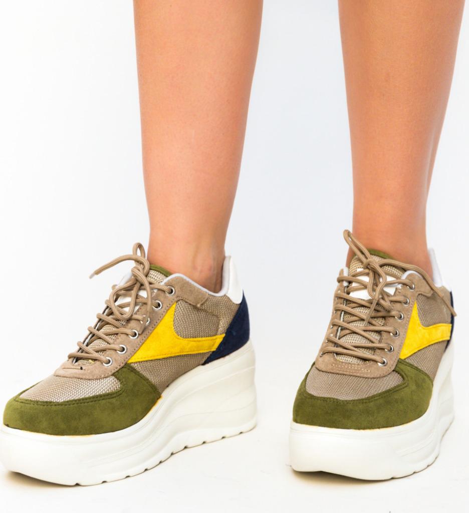 Pantofi Sport Caprati Khaki