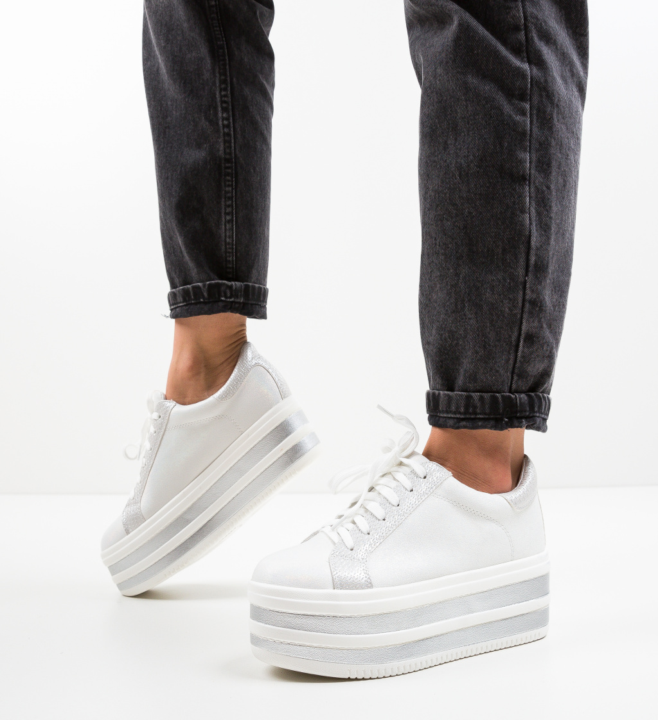 Pantofi Sport Conce Albi