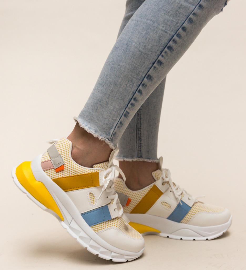 Pantofi Sport Mekhi Galbeni