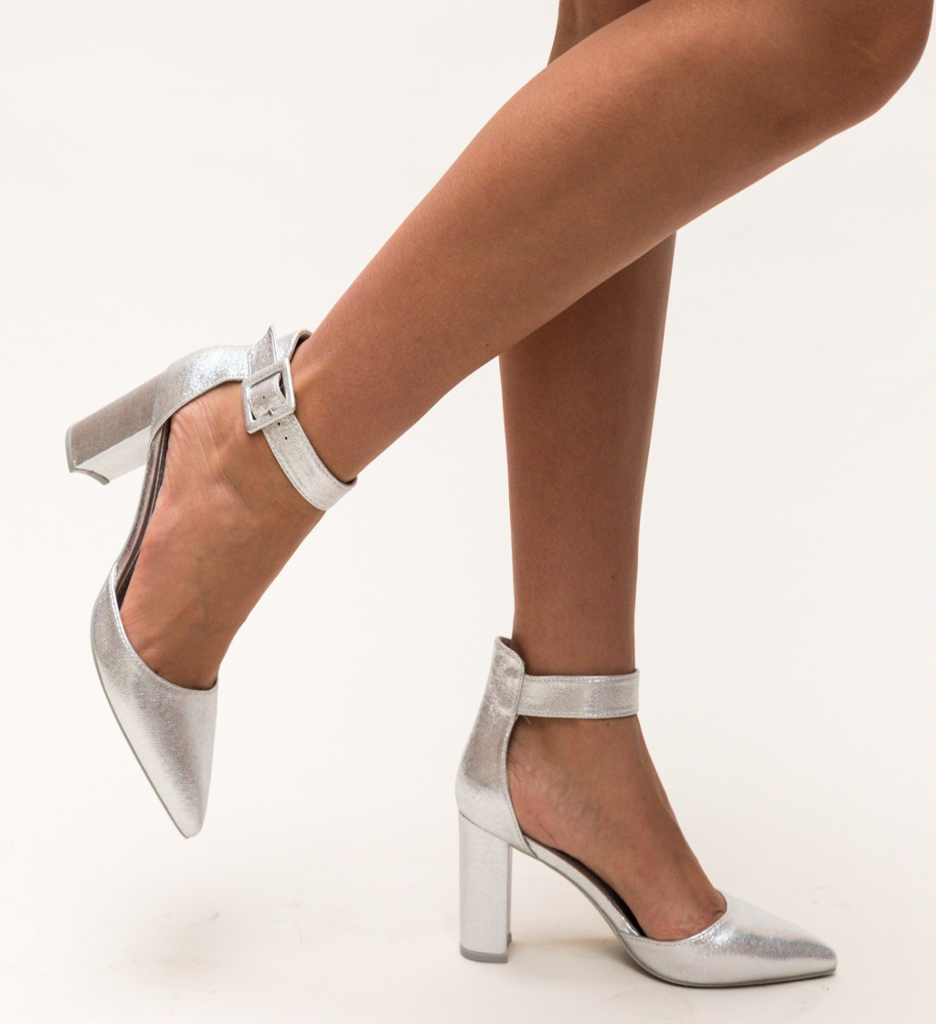 Pantofi Taylor Argintii