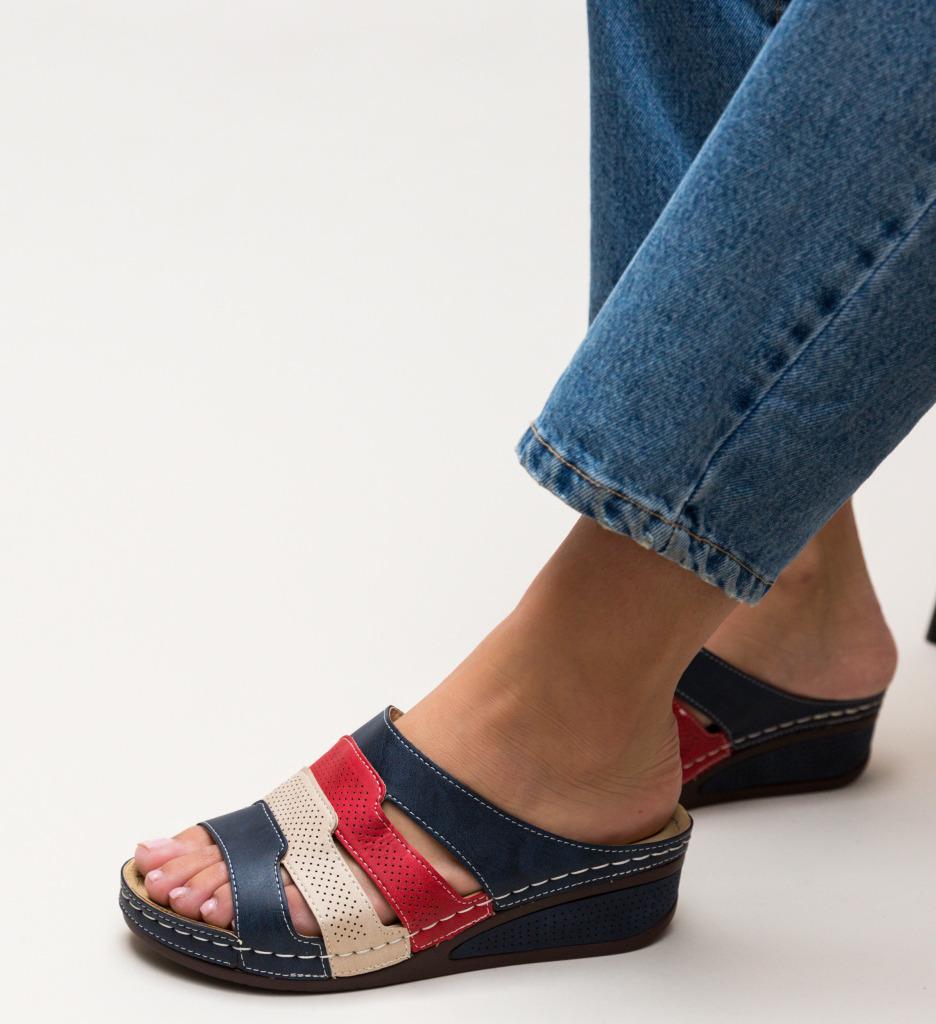 Papuci Anabia Bleumarin