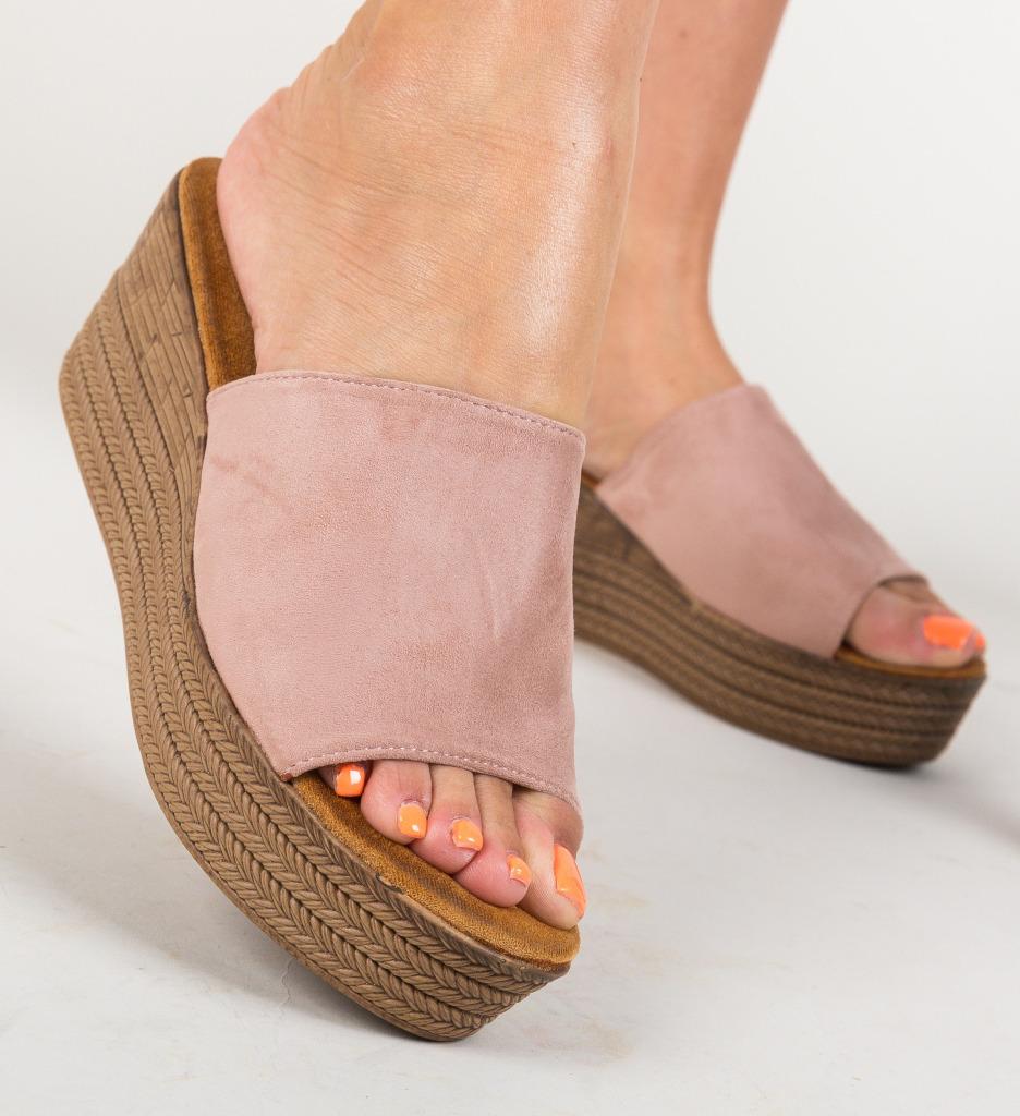 Papuci Nikki Roz