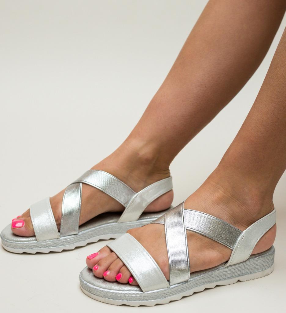 Sandale Narcis Argintii imagine