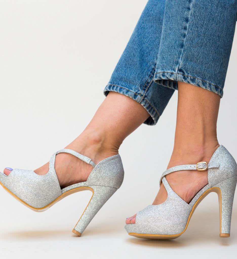 Sandale Taso Argintii