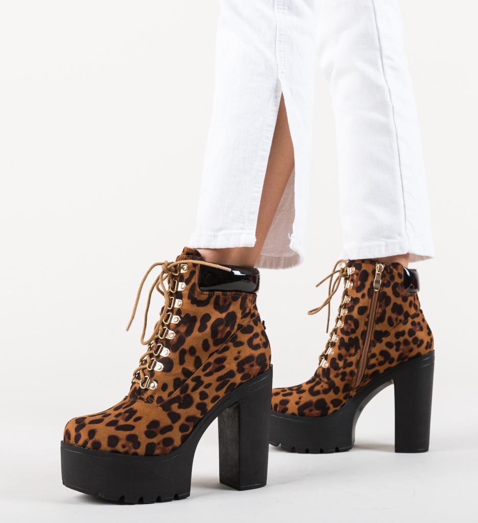 Botine Rita Leopard
