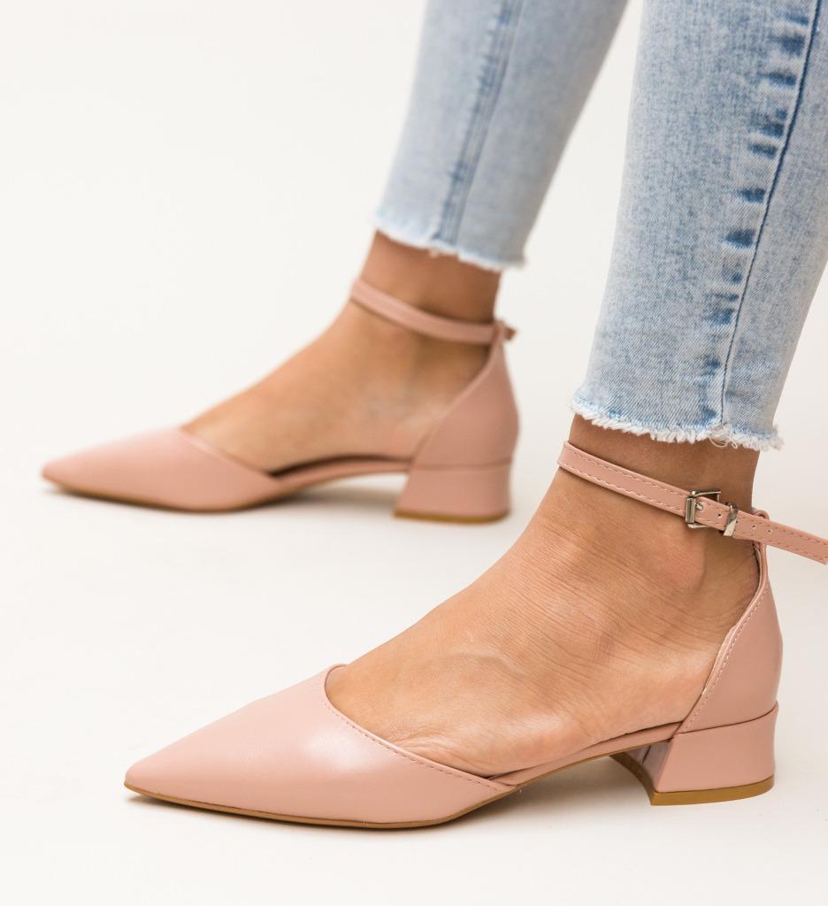 Pantofi Barrera Roz