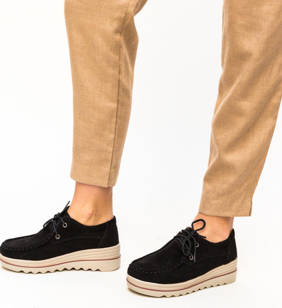 Pantofi Casual Almond Negri