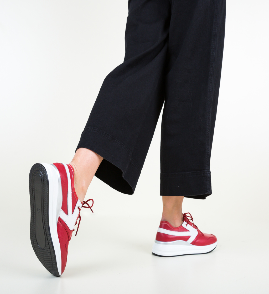 Pantofi Casual Arnol Rosii