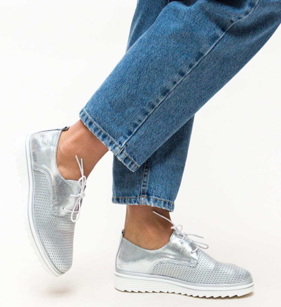 Pantofi Casual Dropin Argintii