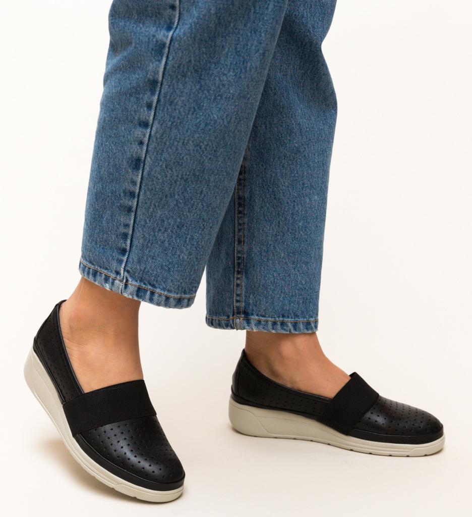 Pantofi Casual Foliande Negri imagine
