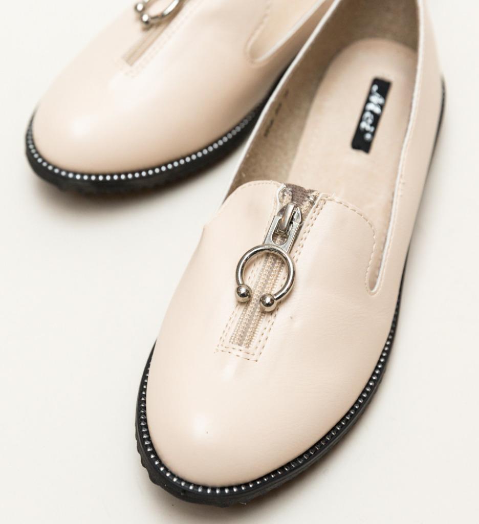 Pantofi Casual Formal Bej
