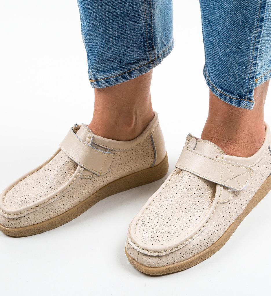 Pantofi Casual Ilena Bej