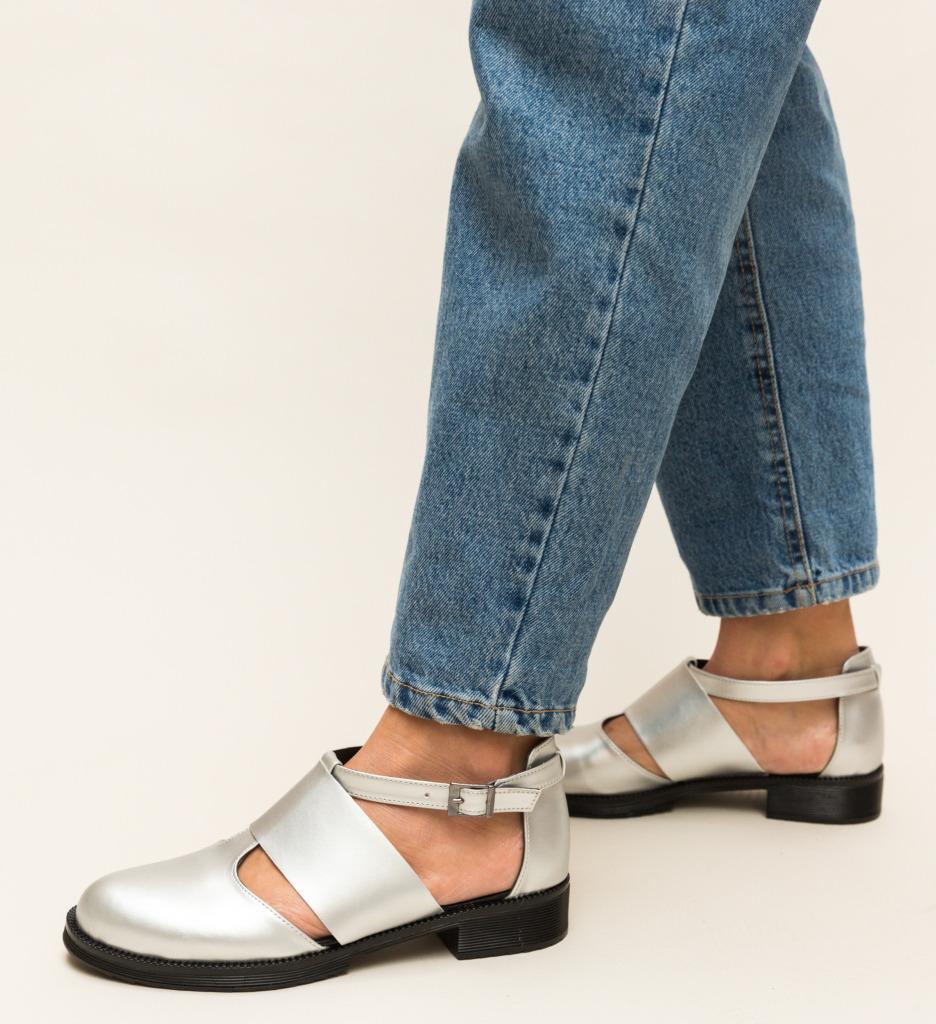 Pantofi Casual Jamie Argintii