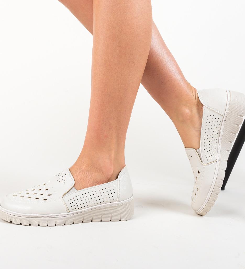 Pantofi Casual Lerini Gri imagine 2021