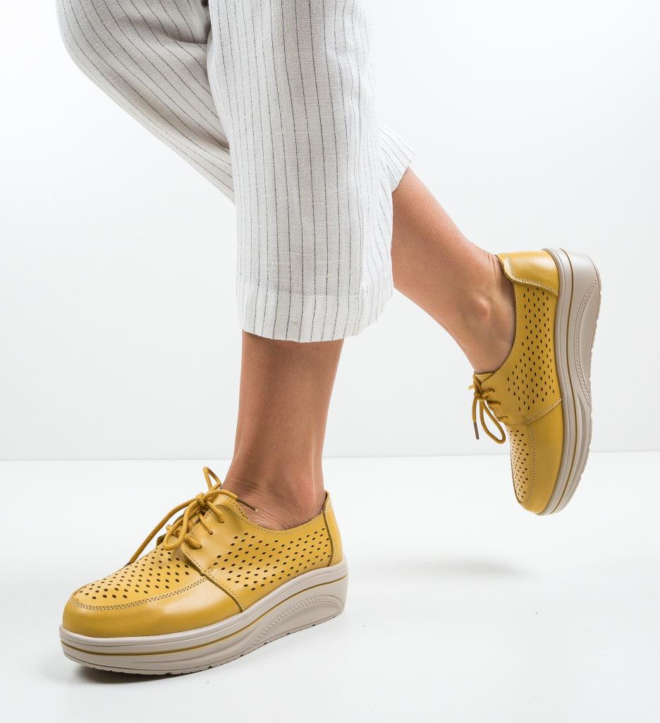 Pantofi Casual Litiani Galbeni