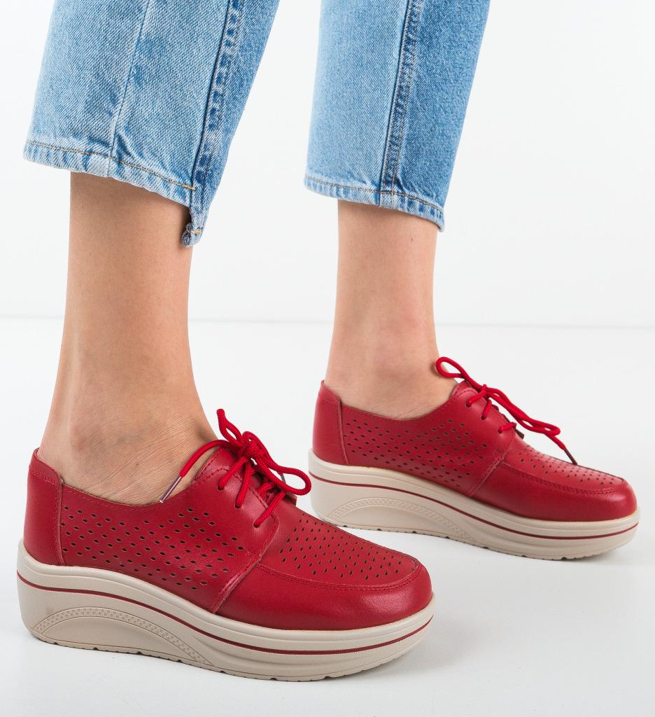 Pantofi Casual Litiani Rosii