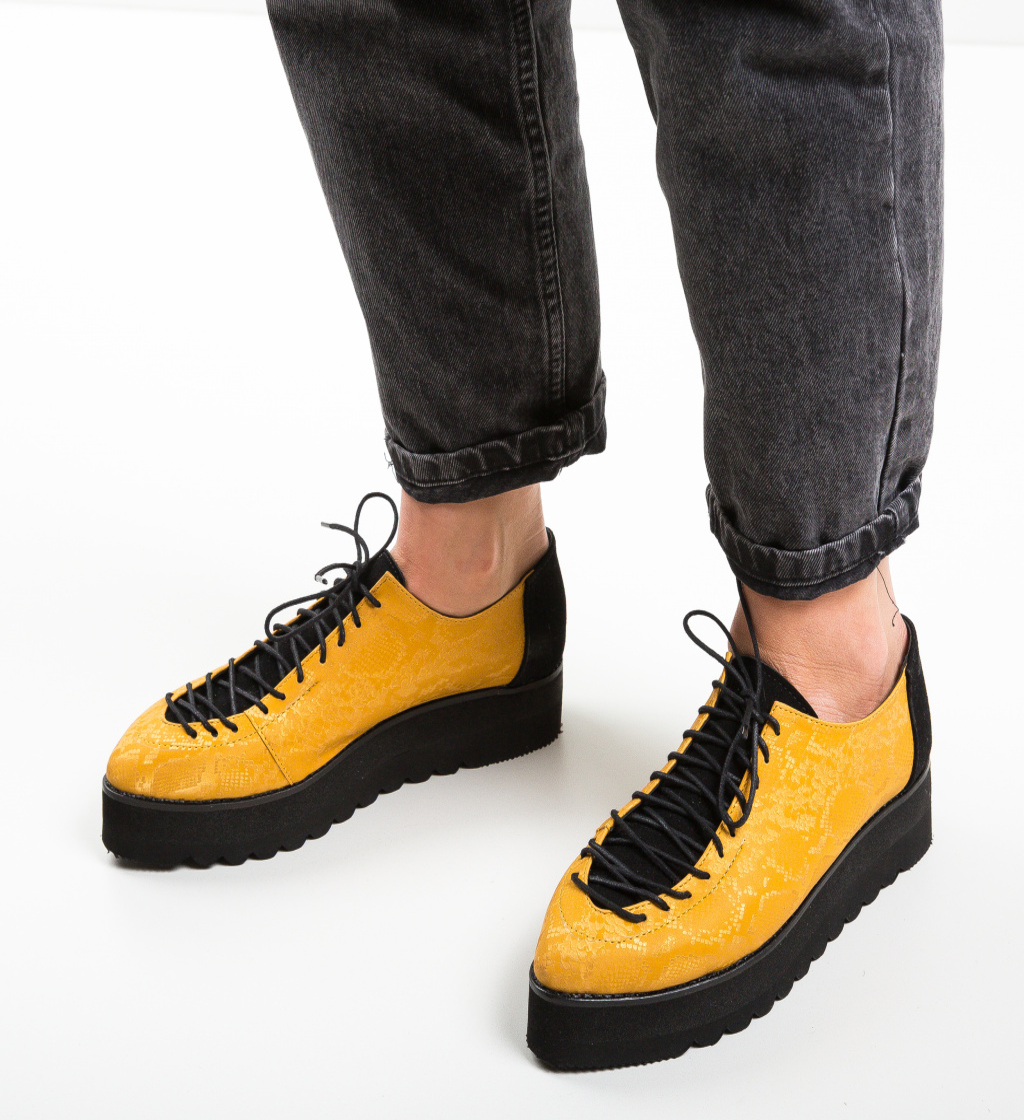 Pantofi Casual Missya Galbeni