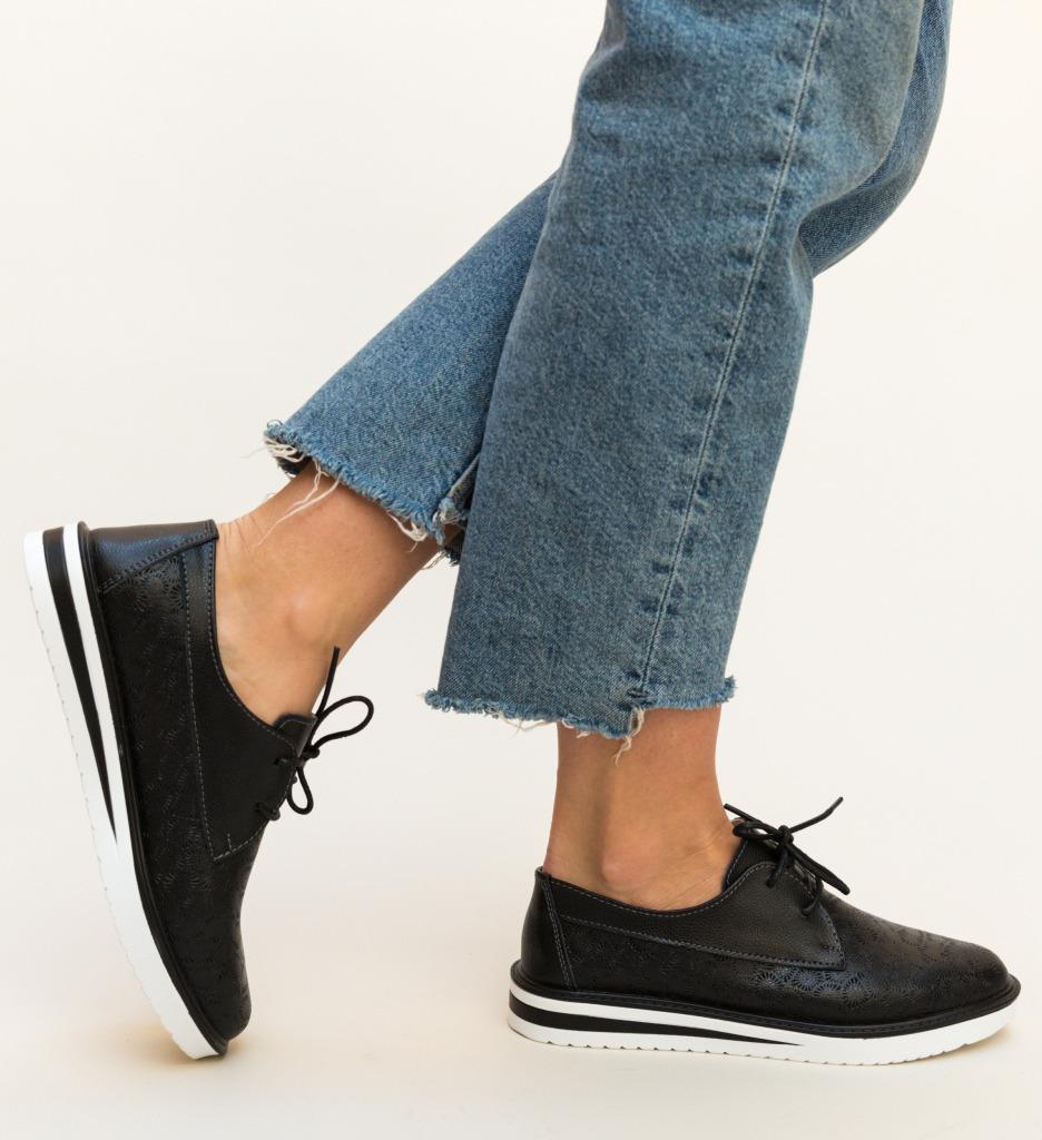 Pantofi Casual Monclen Negri imagine