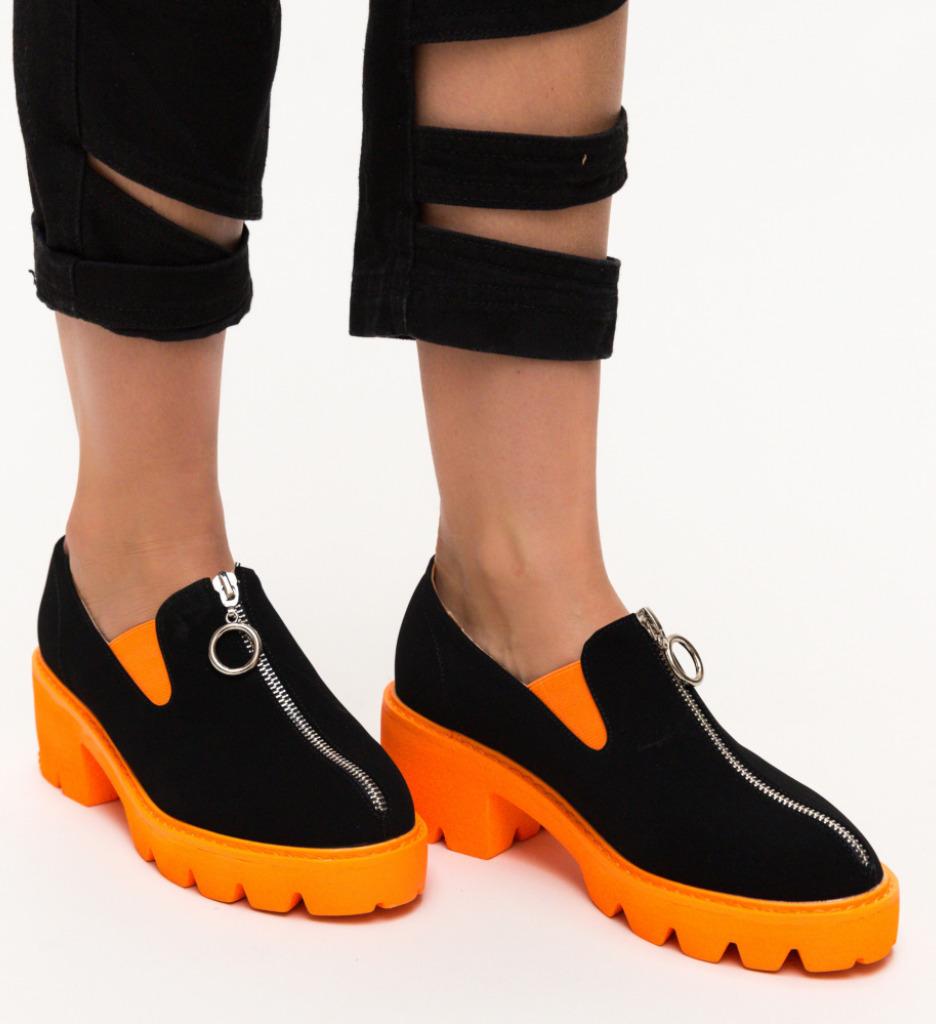 Pantofi Casual Polly Portocali