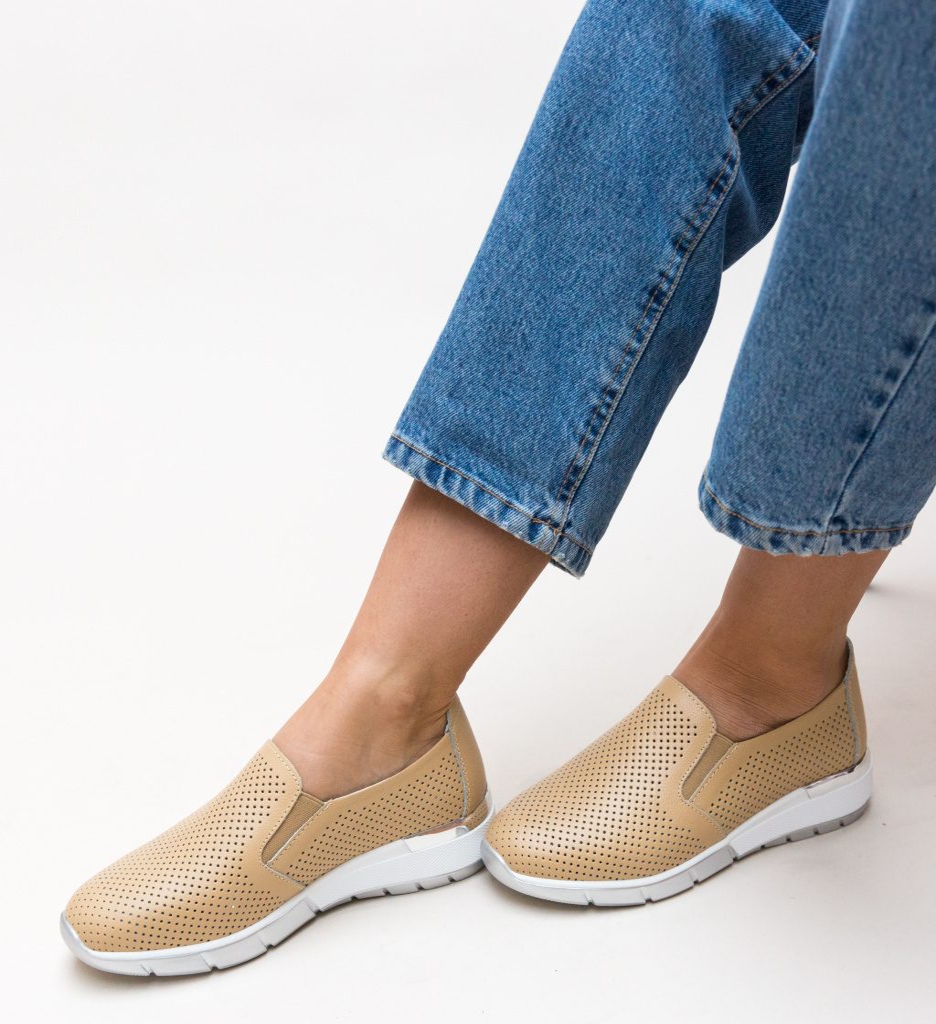 Pantofi Casual Pufine Bej
