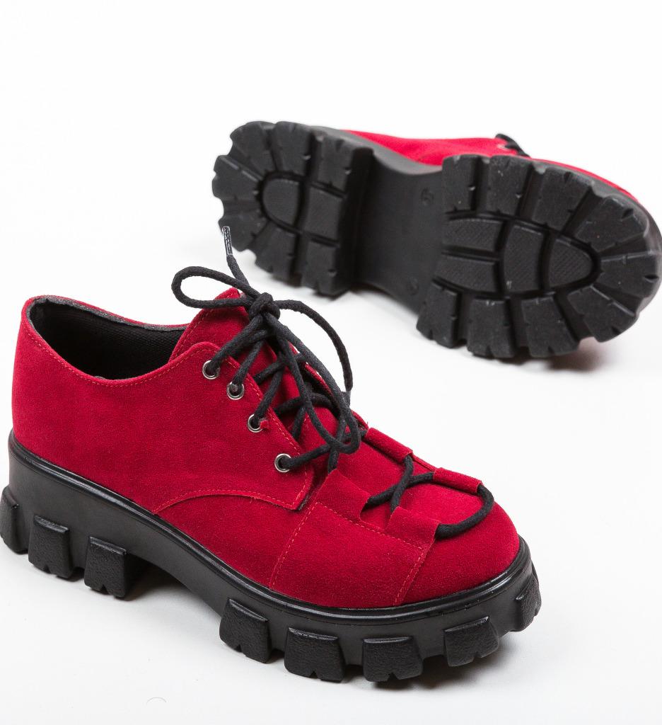 Pantofi Casual Rabcos Rosii