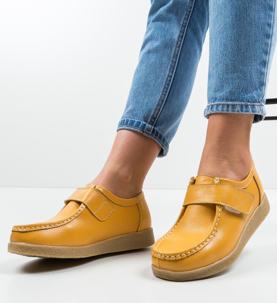 Pantofi Casual Seninena Galbeni
