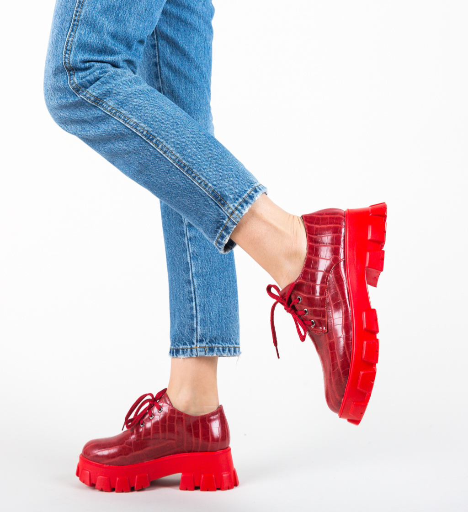 Pantofi Casual Taylor Rosii