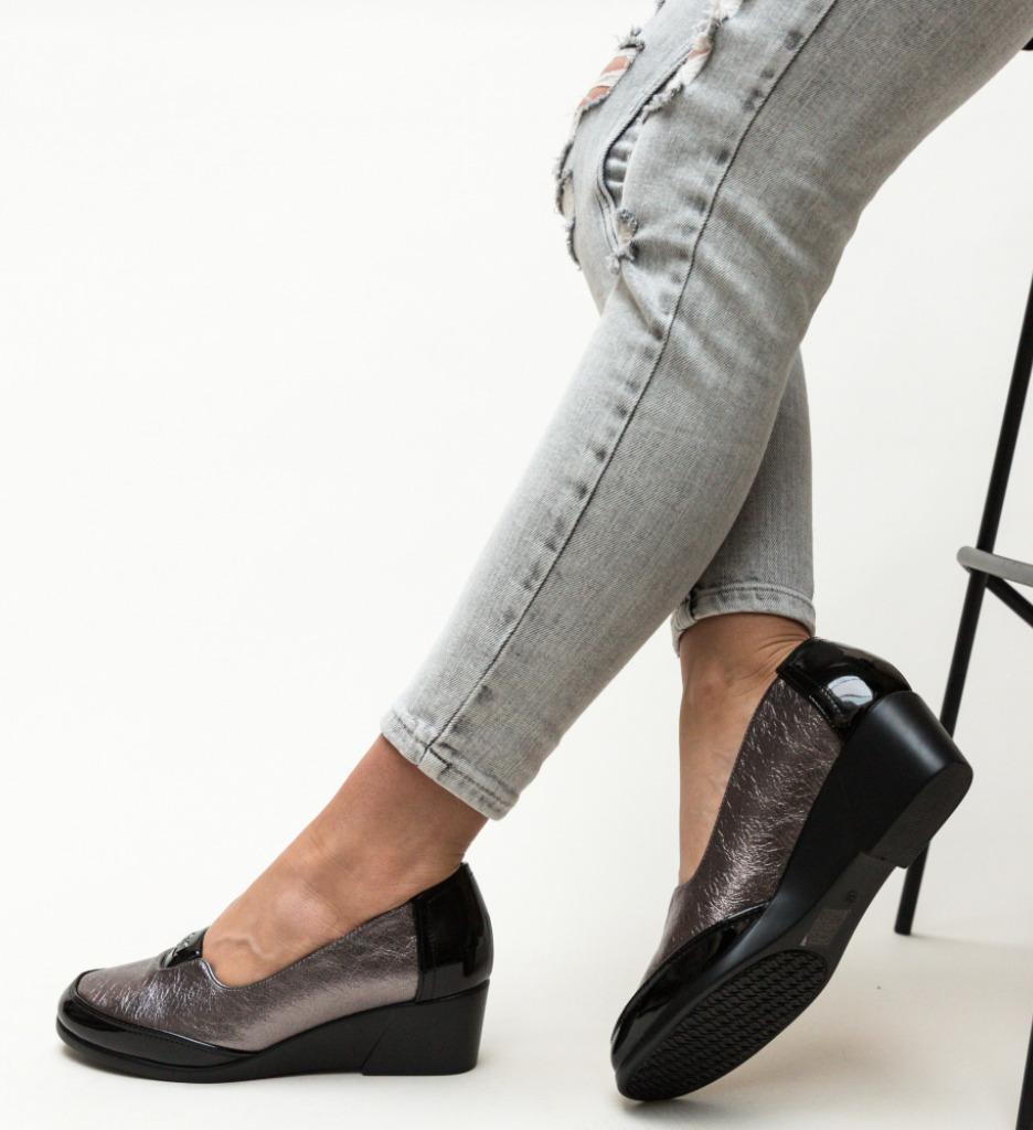 Pantofi Casual Ultim Gri 2 imagine