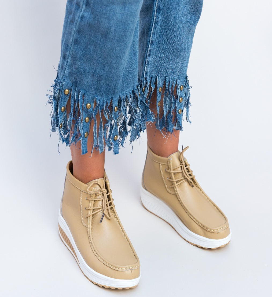 Pantofi Casual Vinto Bej