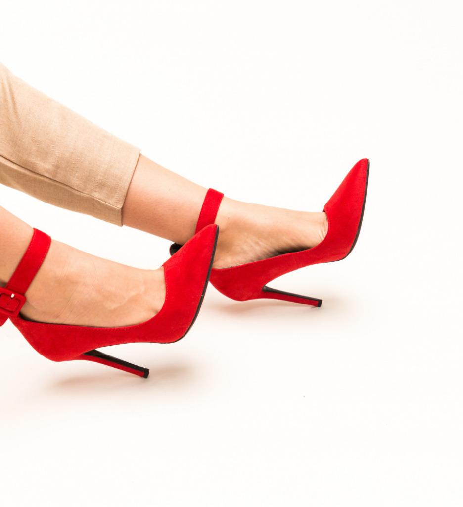 Pantofi Cole Rosii