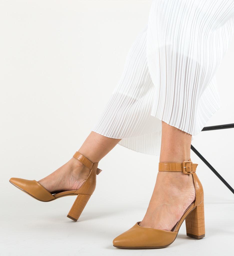 Pantofi Duffy Camel