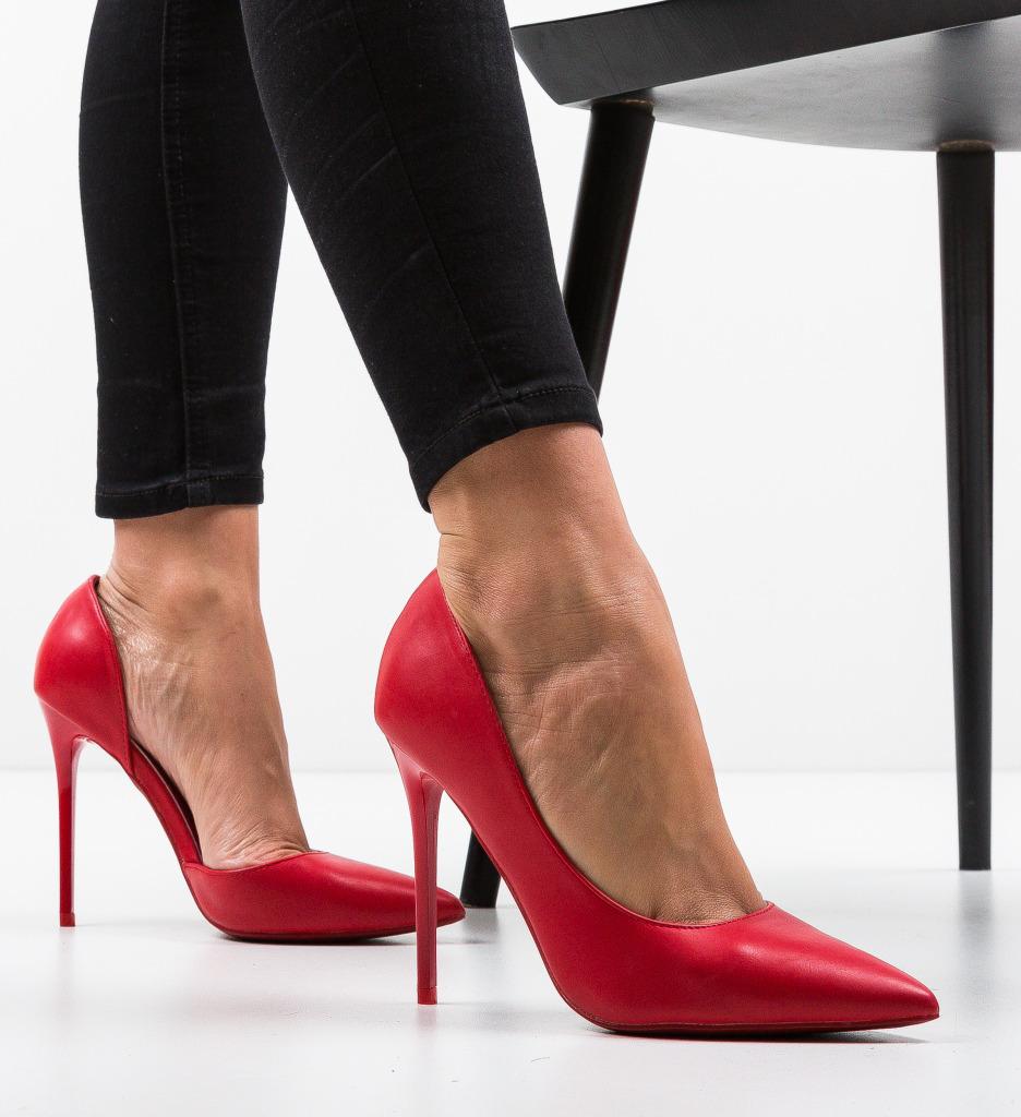 Pantofi Duke Rosii