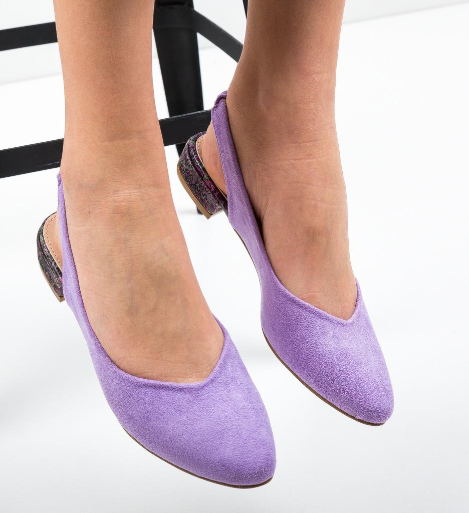 Pantofi Esmai Mov