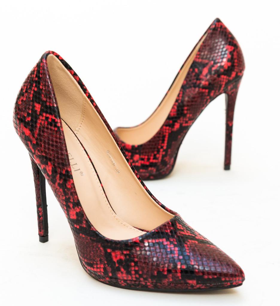 Pantofi Eylin Rosii