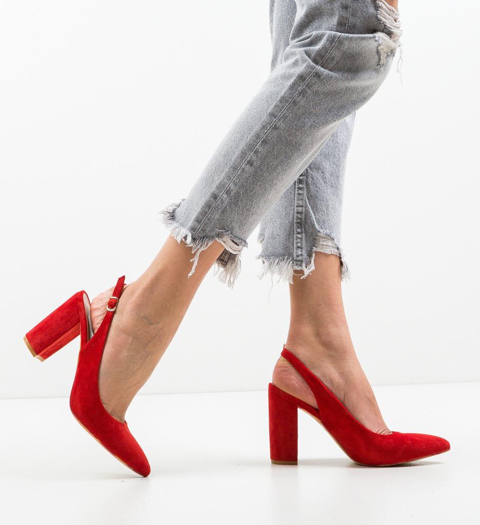 Pantofi Kyal Rosii