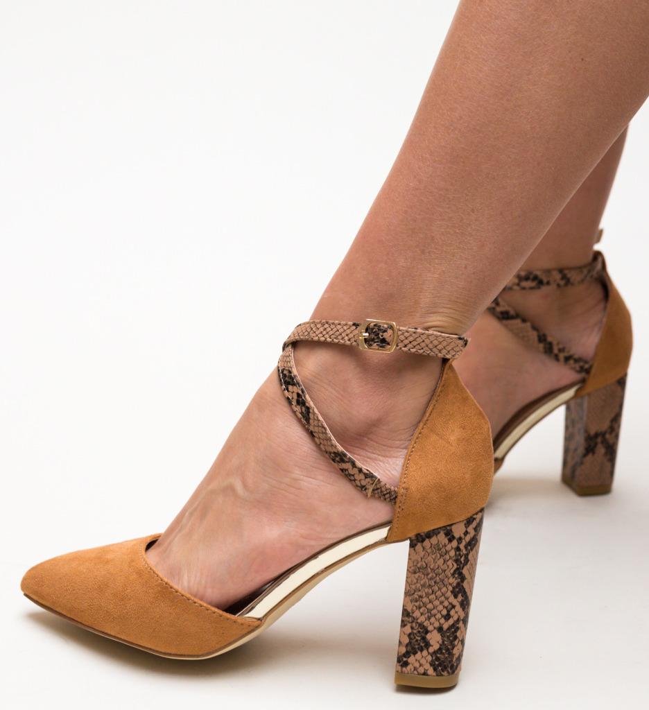 Pantofi Piperco Camel