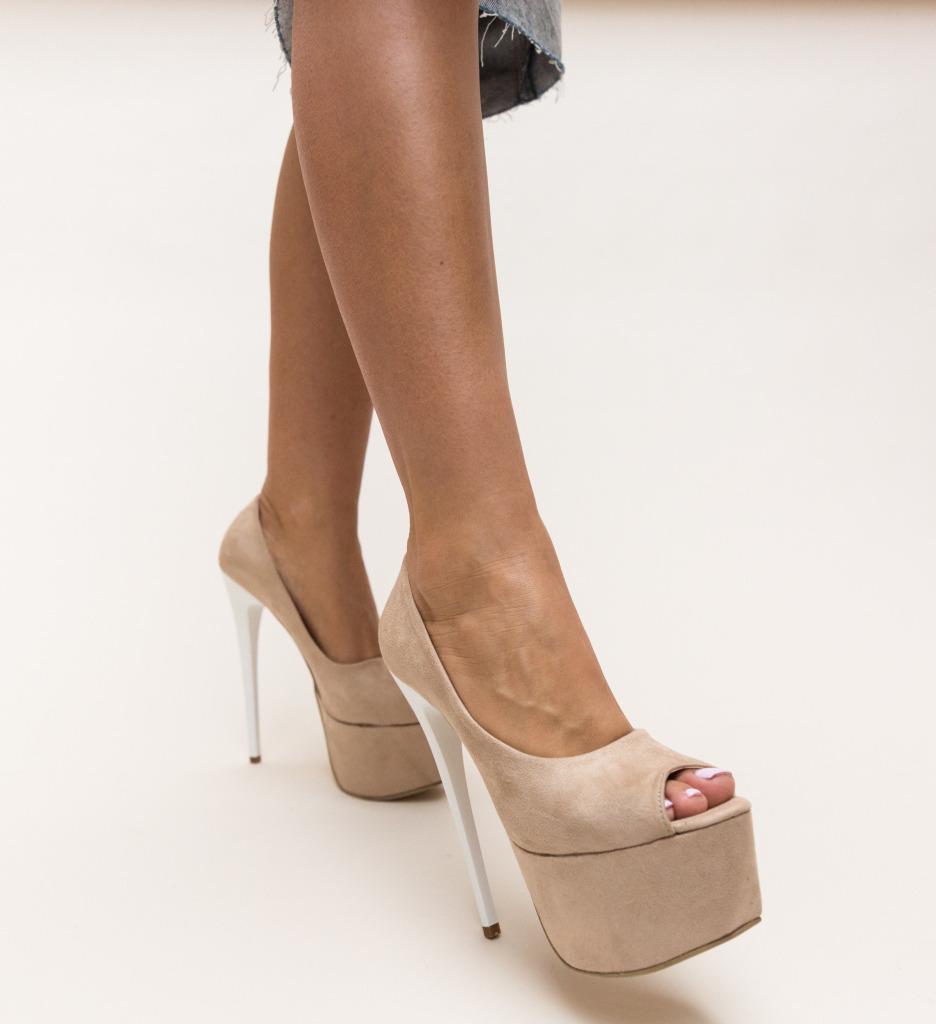 Pantofi Sabija Bej imagine