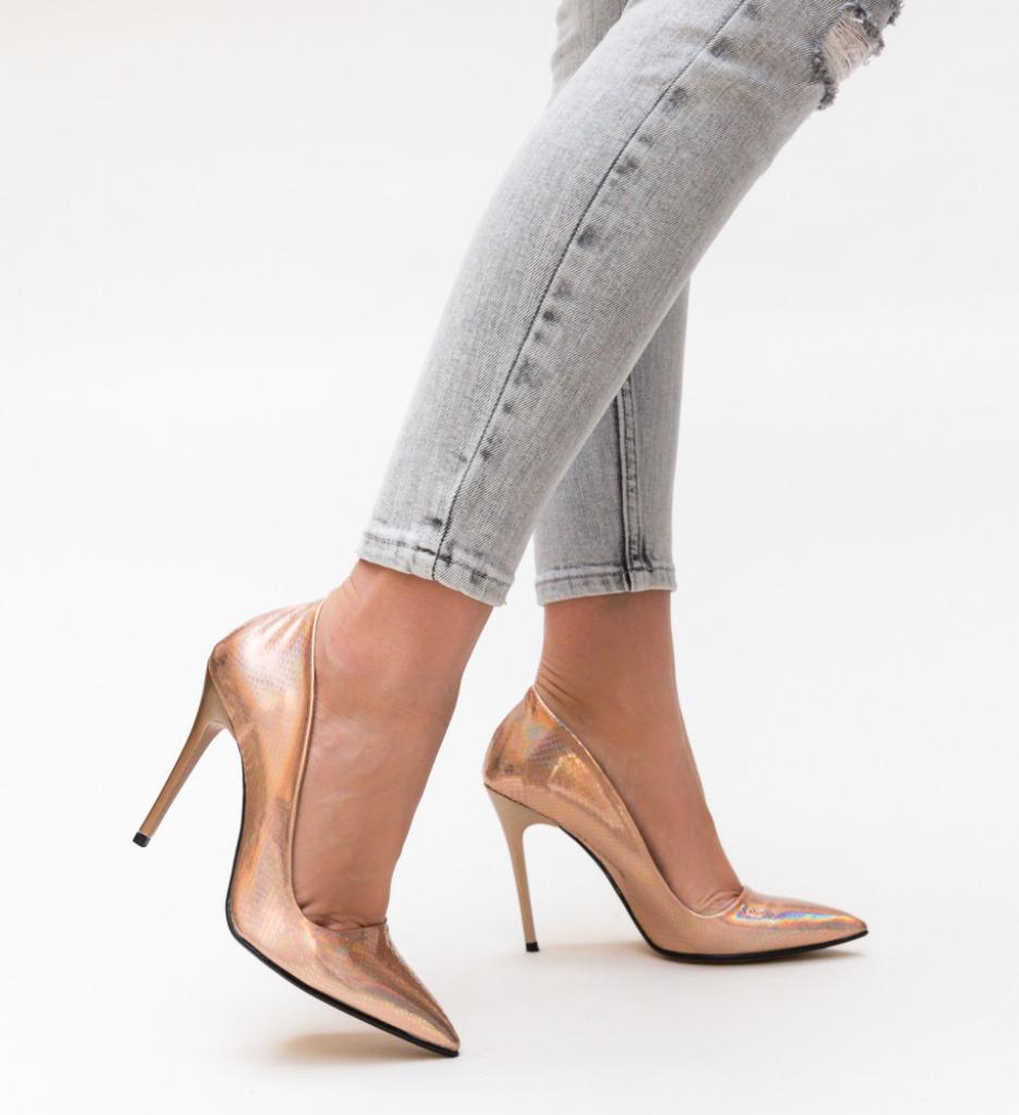 Pantofi Sinclair Aurii